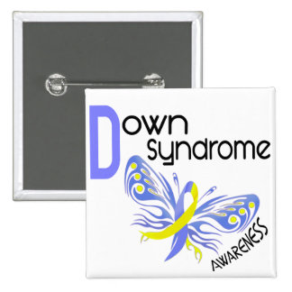 Down Syndrome BUTTERFLY 3.1 Pinback Buttons
