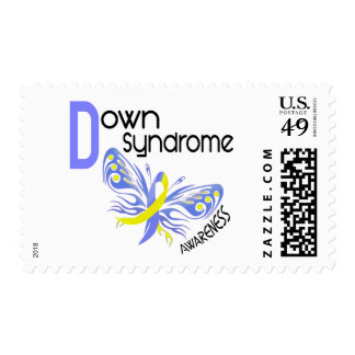 Down Syndrome BUTTERFLY 3.1 Postage Stamp