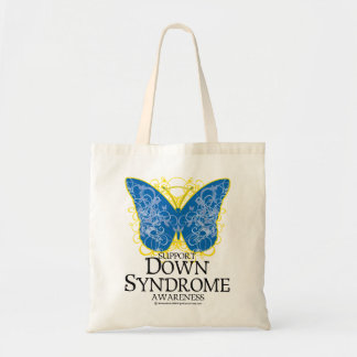 Down Syndrome Butterfly Budget Tote Bag