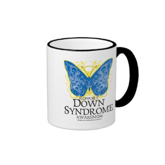 Down Syndrome Butterfly Ringer Coffee Mug