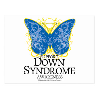 Down Syndrome Butterfly Postcard