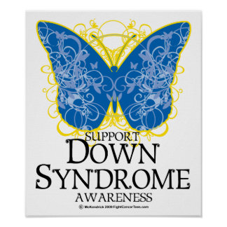 Down Syndrome Butterfly Poster