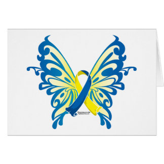 Down Syndrome Butterfly Ribbon Card