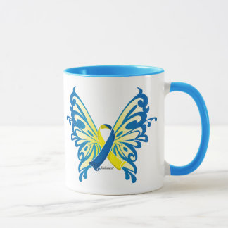 Down Syndrome Butterfly Ribbon Mug