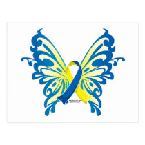 Down Syndrome Butterfly Ribbon Postcard