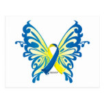 Down Syndrome Butterfly Ribbon Postcards