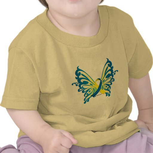 Down Syndrome Butterfly Ribbon T Shirts