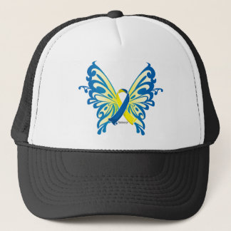 Down Syndrome Butterfly Ribbon Trucker Hat