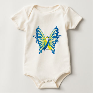Down Syndrome Butterfly Ribbon Baby Creeper