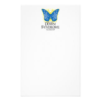 Down Syndrome Butterfly Stationery