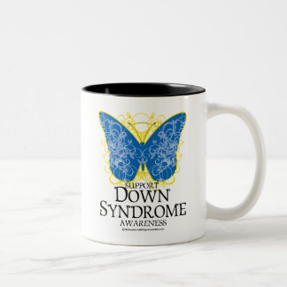 Down Syndrome Butterfly Two-Tone Coffee Mug