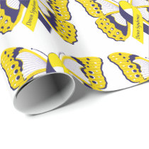 Down Syndrome Butterfly Wrapping Paper