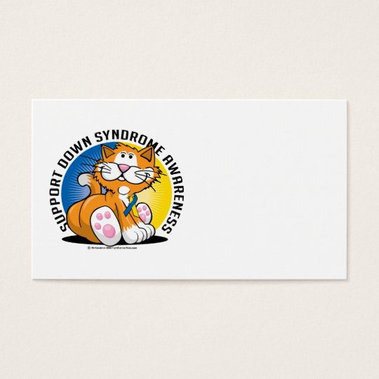 Down Syndrome Cat Business Card