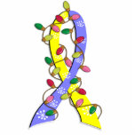 Down Syndrome Christmas Lights Ribbon Photo Sculptures