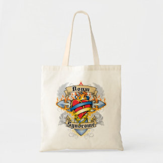 Down Syndrome Cross & Heart Tote Bag