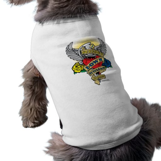 Down Syndrome Dagger Pet T Shirt