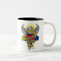Down Syndrome Dagger Two-Tone Coffee Mug