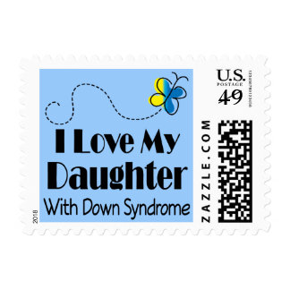 Down Syndrome Daughter Awareness Gift Stamp