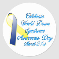 Down Syndrome Day Classic Round Sticker