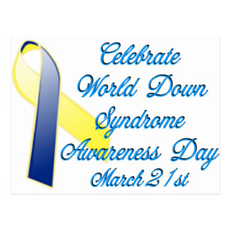 Down Syndrome Day Postcard