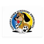Down Syndrome Dog Postcard