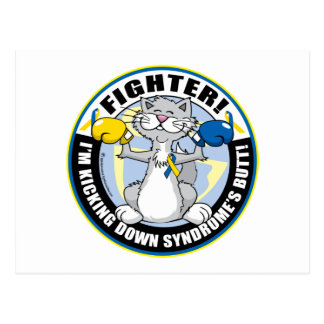 Down Syndrome Fighter Cat Postcard