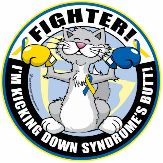 Down Syndrome Fighter Cat Statuette