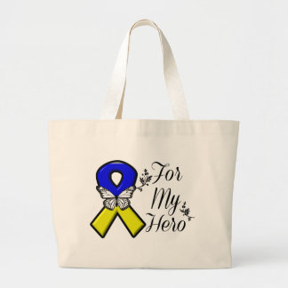Down Syndrome For My Hero Large Tote Bag