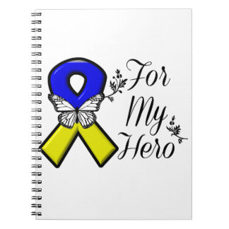 Down Syndrome For My Hero Spiral Notebook