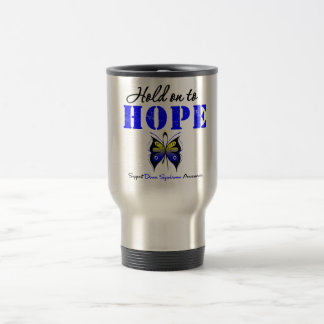 Down Syndrome Hold On To Hope 15 Oz Stainless Steel Travel Mug