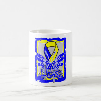 Down Syndrome Hope Butterfly Classic White Coffee Mug