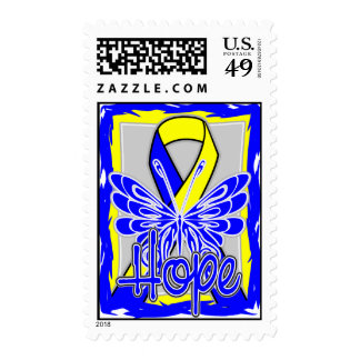 Down Syndrome Hope Butterfly Postage Stamp