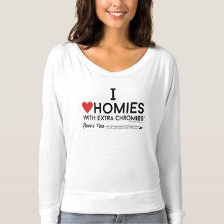 Down syndrome - I love homies w/extra chromiesTM T-shirt