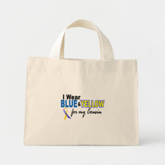 Down Syndrome I Wear Blue & Yellow For My Cousin 2 Mini Tote Bag