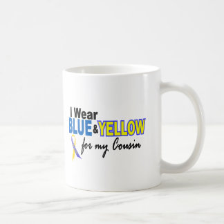 Down Syndrome I Wear Blue & Yellow For My Cousin 2 Classic White Coffee Mug