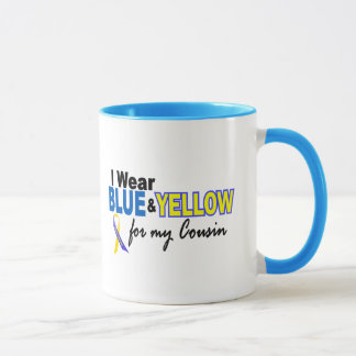 Down Syndrome I Wear Blue & Yellow For My Cousin 2 Mug