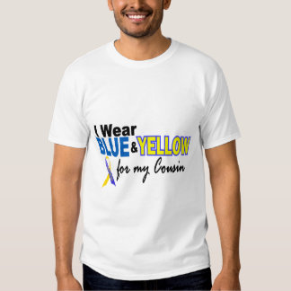Down Syndrome I Wear Blue & Yellow For My Cousin 2 T Shirt