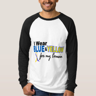 Down Syndrome I Wear Blue & Yellow For My Cousin 2 T Shirts