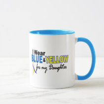 Down Syndrome I Wear Blue & Yellow For My Daughter Mug