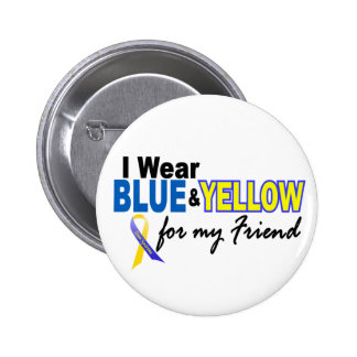 Down Syndrome I Wear Blue & Yellow For My Friend 2 Pinback Buttons