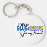 Down Syndrome I Wear Blue & Yellow For My Friend 2 Keychains
