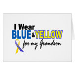 Down Syndrome I Wear Blue & Yellow For My Grandson Card