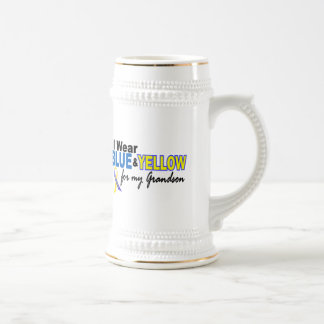 Down Syndrome I Wear Blue & Yellow For My Grandson Coffee Mugs