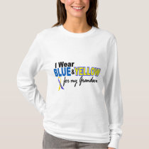 Down Syndrome I Wear Blue & Yellow For My Grandson T-Shirt