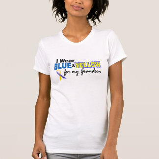 Down Syndrome I Wear Blue Yellow For My Grandson Tshirts