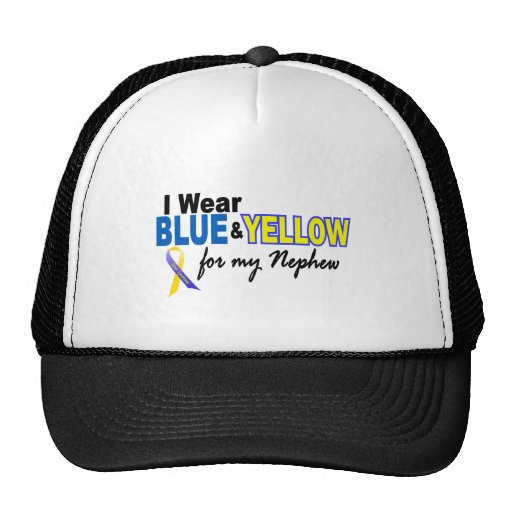 Down Syndrome I Wear Blue & Yellow For My Nephew 2 Mesh Hat