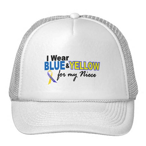 Down Syndrome I Wear Blue & Yellow For My Niece 2 Hats