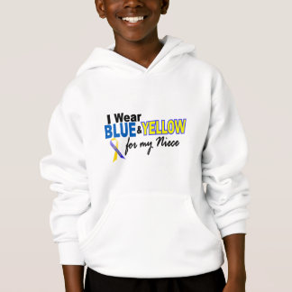Down Syndrome I Wear Blue & Yellow For My Niece 2 Hoodie