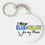 Down Syndrome I Wear Blue & Yellow For My Niece 2 Key Chain