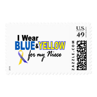 Down Syndrome I Wear Blue & Yellow For My Niece 2 Postage